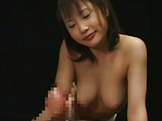 Asian seductress plays with a hard dong well