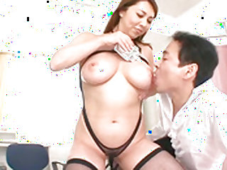 Asian gets big tit sucked