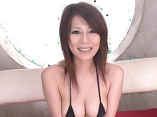 Sexy Asian fingered, fucked and gizzed on by a group of guys
