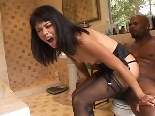 Horny pornstar Dana Vespoli in exotic office, facial porn clip